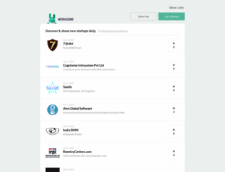 startuplister.com screenshot