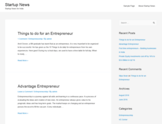 startupnews.in screenshot