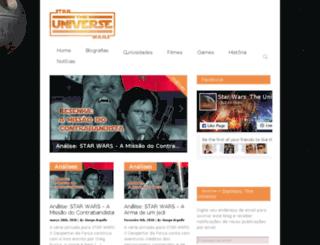 starwarstheuniverse.com.br screenshot