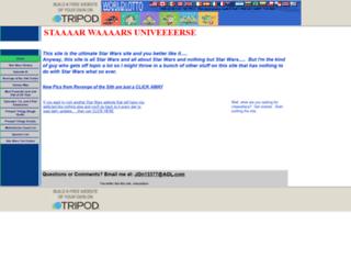 starwarsuniverse2.tripod.com screenshot