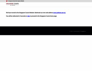 statecourts.gov.sg screenshot