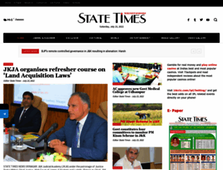 statetimes.in screenshot