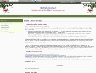 statscheatsheet.wikidot.com screenshot