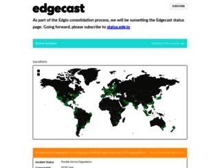 status.edgecast.com screenshot