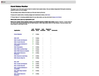 status.icarol.com screenshot