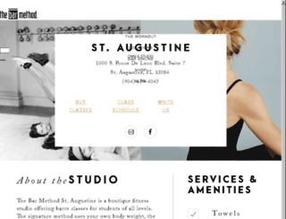 staugustine.barmethod.com screenshot