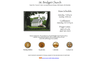 stbridgetschurch.org screenshot