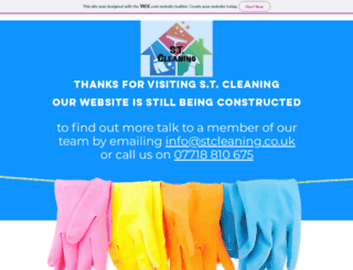 stcleaning.co.uk screenshot