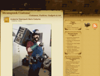 steampunkcostume.com screenshot