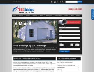 steelarchbuildings.com screenshot