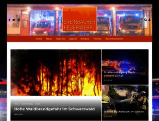 steinbacherfeuerwehr.de screenshot