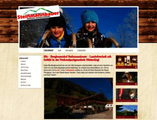 steinmannbauer.at screenshot