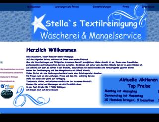stella-textilreinigung.de screenshot