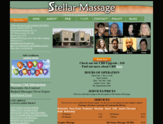 stellarmassage.com screenshot