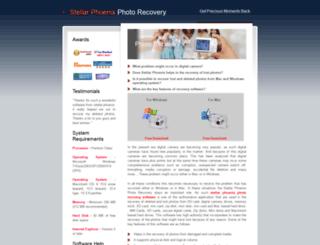 stellarphoenixphotorecovery.com screenshot