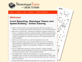 stenotypetutor.com screenshot