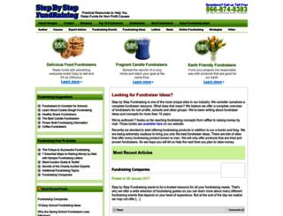 stepbystepfundraising.com screenshot