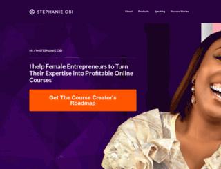 stephanieobi.com screenshot