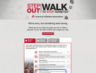 stepoutvideo.diabetes.org screenshot
