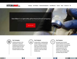 sterimaxinc.com screenshot