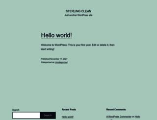 sterlingclean.co.uk screenshot