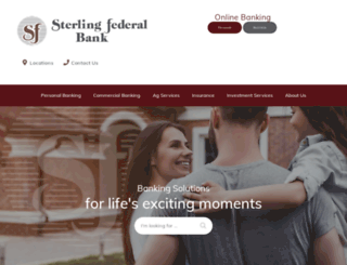 sterlingfederal.com screenshot
