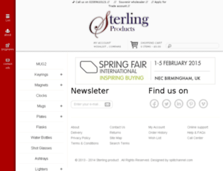 sterlingproduct.co.uk screenshot