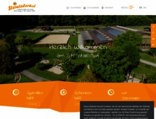 sterntalerhof.at screenshot