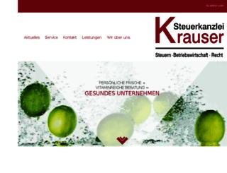steuerkanzlei-krauser.de screenshot