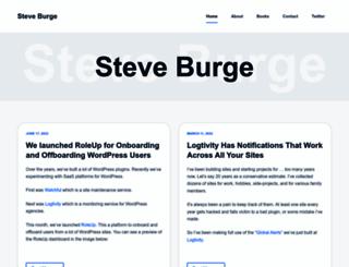 steveburge.com screenshot