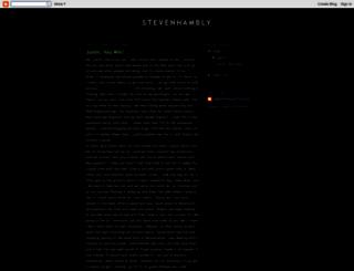 stevenhambly.blogspot.com screenshot