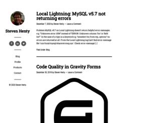 stevenhenty.com screenshot