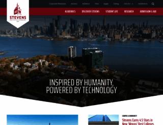stevens.edu screenshot
