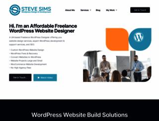 stevesims.com screenshot