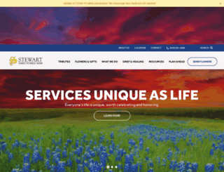 stewartfamilyfuneral.com screenshot