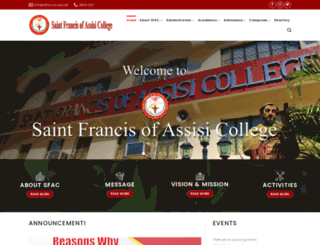 stfrancis.edu.ph screenshot