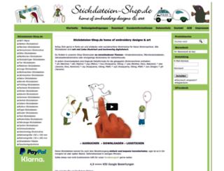 stickdateien-shop.de screenshot