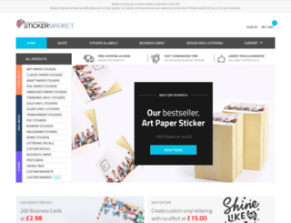stickermarket.co.uk screenshot