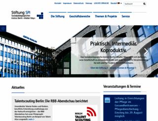 stiftung-spi.de screenshot