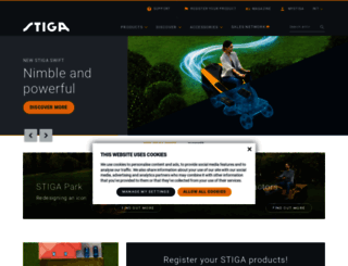stiga.com screenshot