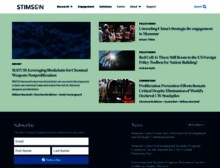 stimson.org screenshot