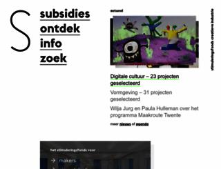 stimuleringsfonds.nl screenshot