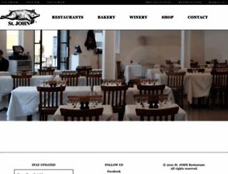 stjohnrestaurant.com screenshot
