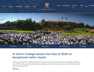 stjohnscollege.co.za screenshot