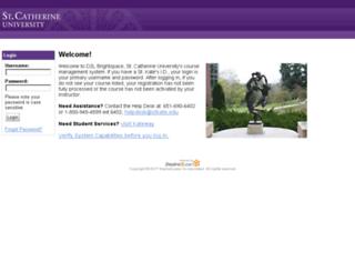 stkate.desire2learn.com screenshot