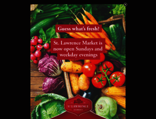 stlawrencemarket.com screenshot