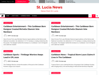 stluciachronicle.com screenshot