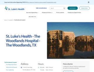 stlukeswoodlands.com screenshot