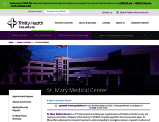 stmaryhealthcare.org screenshot