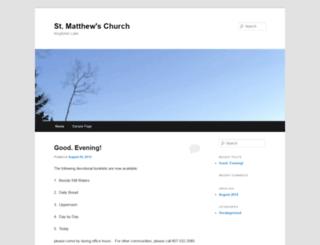 stmatthewschurch.myknet.org screenshot